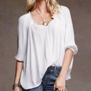 Victoria's Secret XS White ruffle cotton blouse